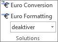 Eurokonvertering og Euroformatering