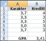 Multiplisere tilhørende verdier i to matriser