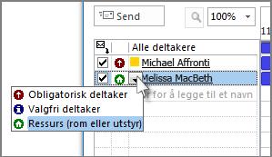 Klikk på ikonet til venstre for navnet, og klikk deretter på Ressurs.