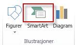 SmartArt under Illustrasjoner i kategorien Sett inn