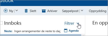Et skjermbilde av Filter-knappen
