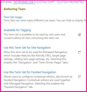 Du kan bruke egenskaper for termlager til å konfigurere innstillinger, for eksempel merking.