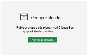 Legg til gruppe kalender