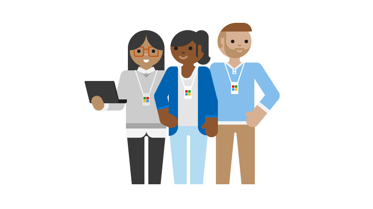 En illustrasjon av støtteteknikere