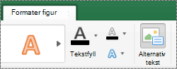 Alternativ tekst-knappen for figurer på båndet i Excel for Mac