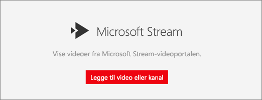 Microsoft Stream-webdelen