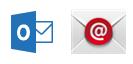 Outlook-appen og den innebygde e-postappen for Android