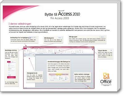 Miniatyrbilde av veiledningen for overgang til Access 2010