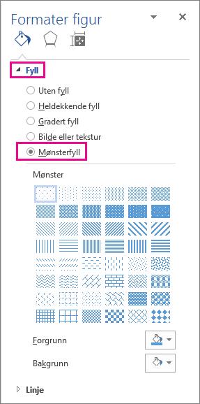 Velge mønster fyll i formater figur-ruten
