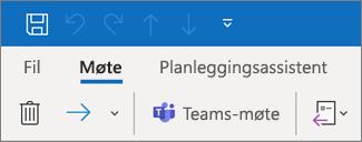 Legge til et Teams-møte i en møteinvitasjon i Outlook