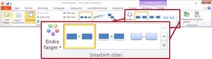 Kategorien Utforming under SmartArt-verktøy