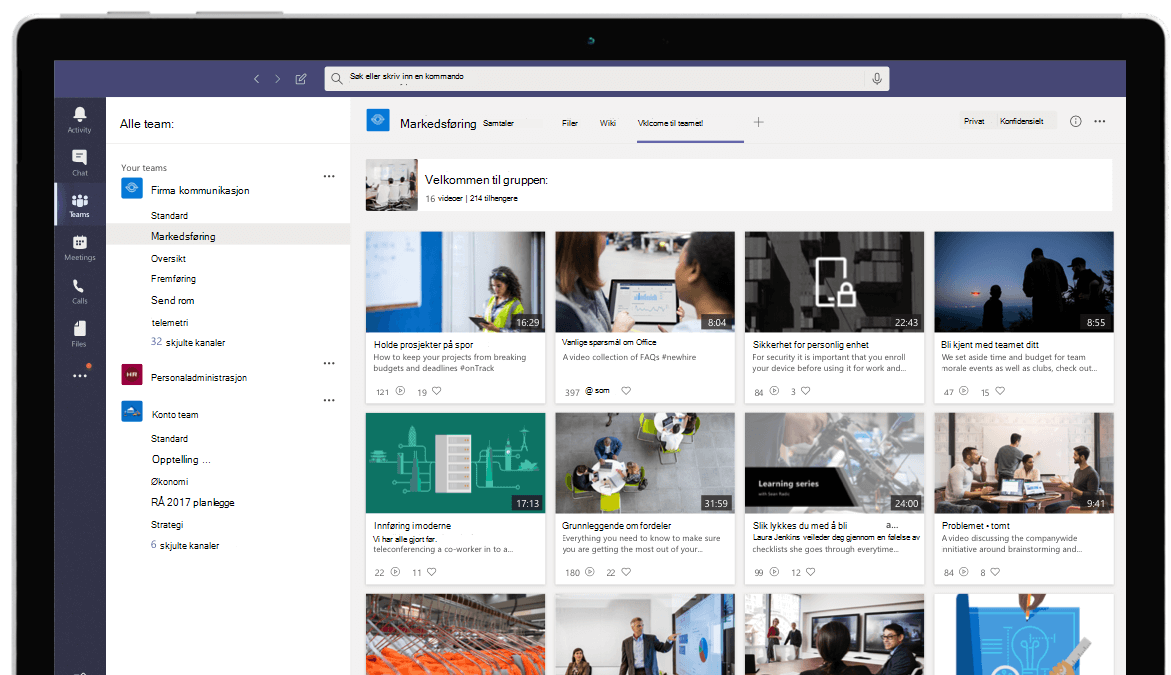 Stream-videoer i Microsoft Teams