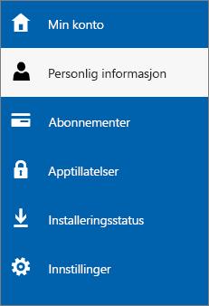 Oppdatere din personlige administratorinformasjon