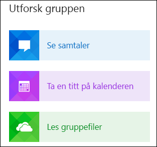 Utforsk en gruppe i Outlook
