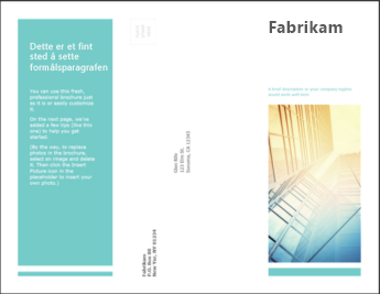 Brosjyremal i PowerPoint Online