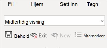 Viser arkvisning i Excel