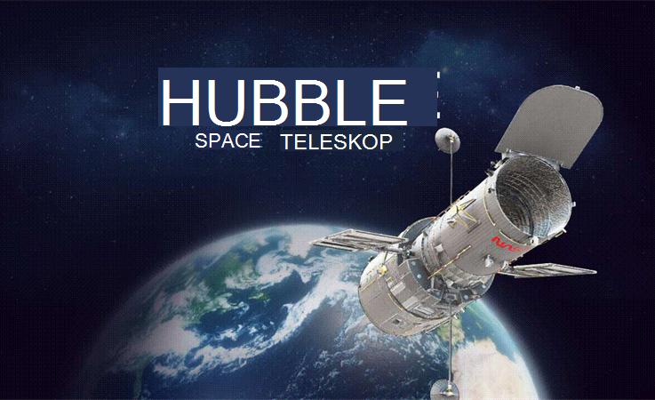 bilde av Hubble-teleskopet i verdensrommet.