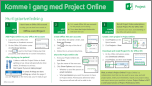 Kom i gang med hurtigstartveiledningen for Project Online