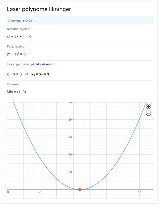 Polynomløser i Bing