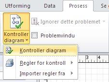 Kontroller diagram-knapp