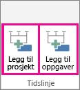 MultipleTimelines02 – Legg til prosjekt
