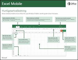 Hurtigstartveiledning for Excel Mobile