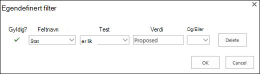 Konfigurere filteret for foreslått ressurs forespørsler
