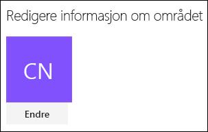 Skjermbilde som viser dialogboksen i SharePoint for å endre områdets logo.