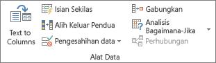 Dataverktøy-gruppen i kategorien Data