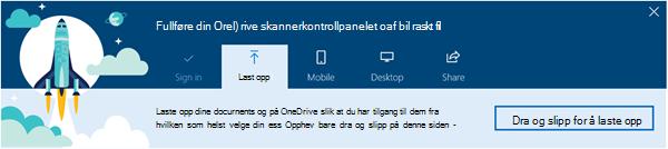 Skjermbilde av OneDrive veiledende innføringen som vises når du først bruke OneDrive for Business i Office 365