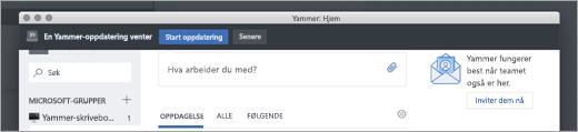 Yammer App oppdateringer