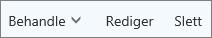 På kommandolinjen for Outllook.com kan du administrere, redigere eller slette kontakter