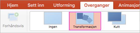 Flytende PowerPoint-overganger med Morph.