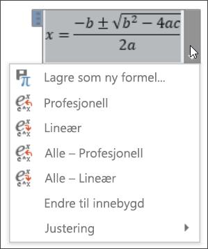Formel lineær