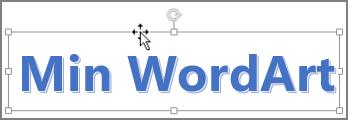 WordArt med firehodet pilmarkør