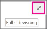 Aktivere/deaktivere full skjerm