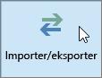 Skjermbilde av knappen Import/eksport i Outlook 2016