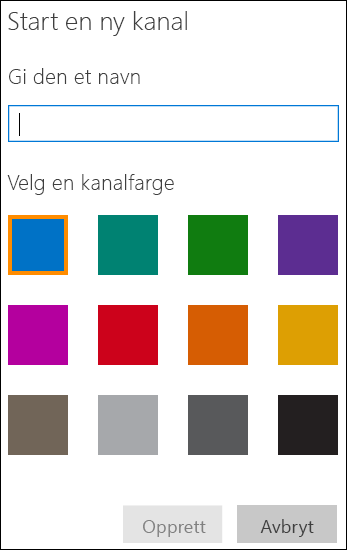 Opprette en kanal i Office 365 Video