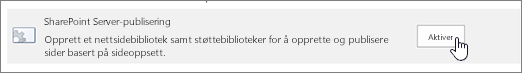 Enable sharepoint publishing option under Site collection features