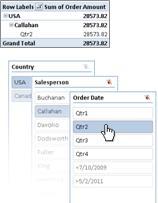 Bilde av båndet i Excel