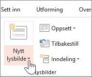Nytt lysbilde-knapp