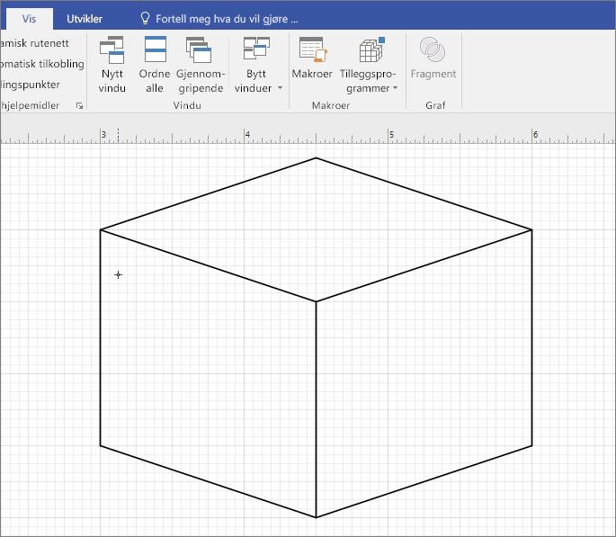 Tegn figuren manuelt ved hjelp av linjeverktøyet.