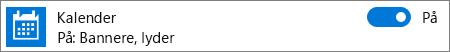 Slå av kalendervarsler i Windows 10 ved hjelp av systeminnstillinger