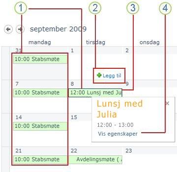 En enkel kalender