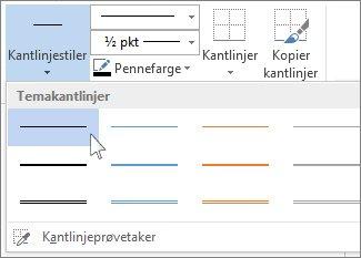 Stiler for tabellkantlinjer