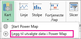 Legg til merket data-kommandoen i Power Map