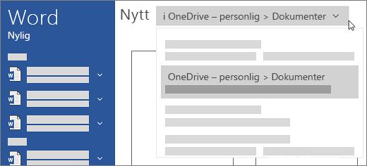 Nye OneDrive