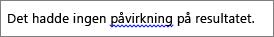 Mulige grammatiske feil angitt ved blå bølgete linje