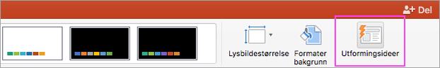 Bruk PowerPoint Designer til å gjøre presentasjonen mer tiltalende.