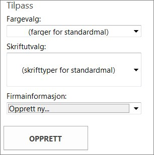 Alternativer for postkortmaler fra Office.com.